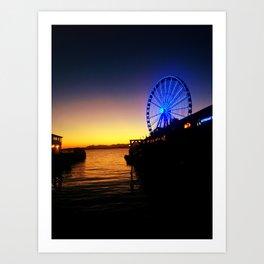 Seattle Pier Art Print