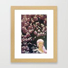 Plum Blossom Framed Art Print