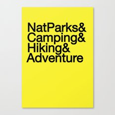 National Parks & Hiking & Camping & Adventure Canvas Print