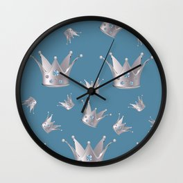 Silver crown Wall Clock