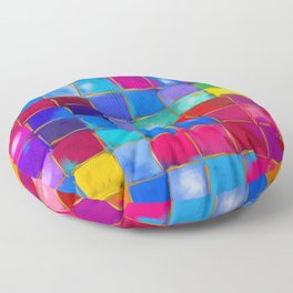 MoSaiC ART ' ALL THe PReTTY CoLouRS ' By SHiRLeY MacARTHuR Floor Pillow