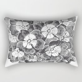 Vintage Flowers Bouquet Rectangular Pillow