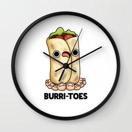 Burritoes Cute Burrito Pun Wall Clock