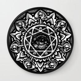 Eye of God Flower Wall Clock