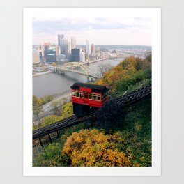 An Autumn Day on the Duquesne Incline in Pittsburgh, Pennsylvania Art Print
