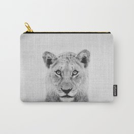 Lioness II - Black & White Carry-All Pouch