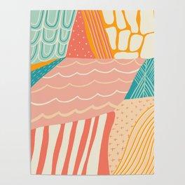 beach quilt Poster