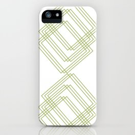 Green Squares iPhone Case