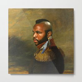 Mr. T - replaceface Metal Print