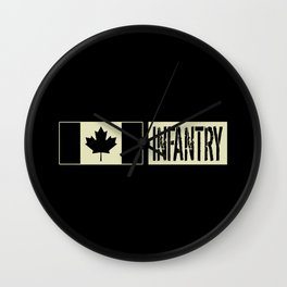 Canadian Military: Infantry (Black Flag) Wall Clock