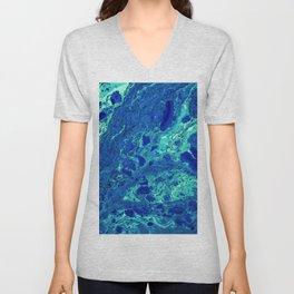 Aqua Texture (Color) Unisex V-Neck