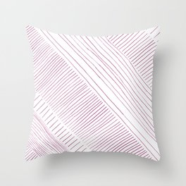 Pink stripes pattern Throw Pillow