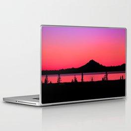 Pink Sunset Silhouette - Mt. Redoubt, Alaska Laptop & iPad Skin
