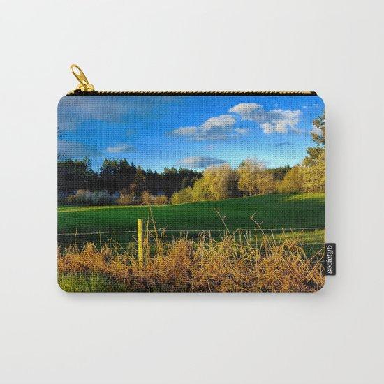 Golden Evening Light Across A Field Carry-All Pouch