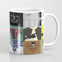 starwars Mugs featuring Starwars combo by Alex Patterson AKA frigopie76
