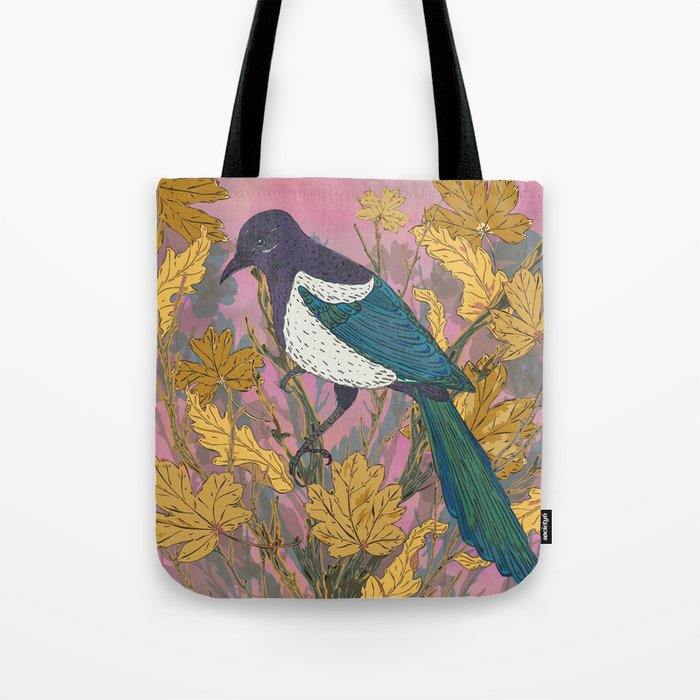 Magpie and Maple Tote Bag