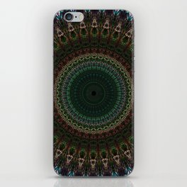 Detailed mandala with spikes iPhone Skin