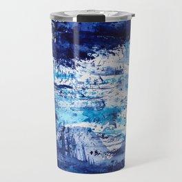 Blue passion || watercolor Travel Mug