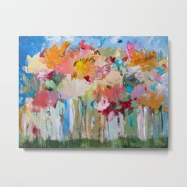 Spring Bloom Flower's Garden Abstract Contemporary Original Art Metal Print