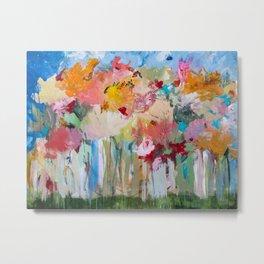 Spring Bloom Flower's Garden Abstract Contemporary Original Art Metal Print