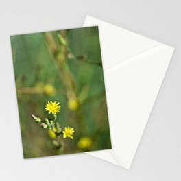 Golden flowers by the lake 1 Stationery Cards