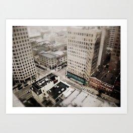Tilt Shift City Art Print
