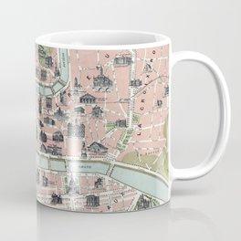 Vintage Map of Lyon France (1894) Coffee Mug