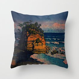 Bathing in Sunset Throw Pillow