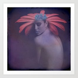 Portrait of the face of spring Art Print
