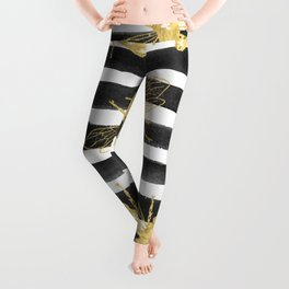 Golden bee noir Leggings
