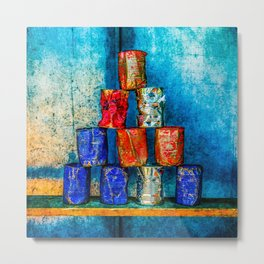Soup Cans - Square Meal Metal Print