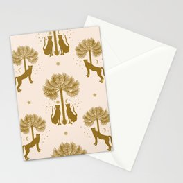 Magical Jungle Dream / Gold and Cream Stationery Cards