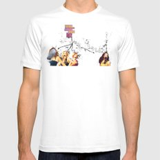 Who are you calling past it? White MEDIUM Mens Fitted Tee