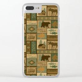 Big Bear Lodge Clear iPhone Case
