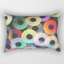 Bright rings Rectangular Pillow