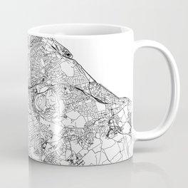 Edinburgh White Map Coffee Mug