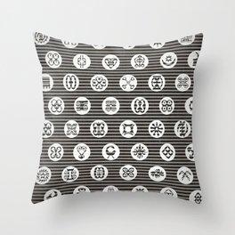 Adinkra Tribal symbols Throw Pillow