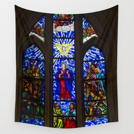 Stained Glass of the Royal Cathedral, Madrid Wall Tapestry