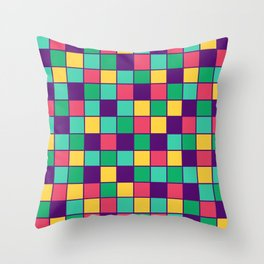 Squares 3 - the power of simplicity  Throw Pillow