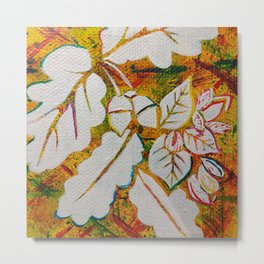 Leaves on the World Tree: Danish Beech and Oak Metal Print