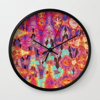 tie dye Wall Clocks featuring Tie Dye  by Ingrid Padilla