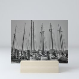 Schooners in the Cove Mini Art Print