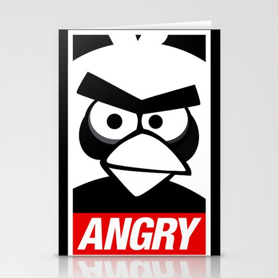 Obey Angry Birds! (Mashup, Parody) Stationery Cards