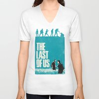 the last of us V-neck T-shirts featuring The Last Of Us by Bill Pyle