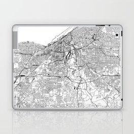 Cleveland White Map Laptop & iPad Skin