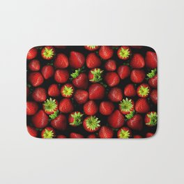 Strawberries Pattern! Bath Mat