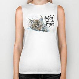 Lynx Wild and Free Biker Tank