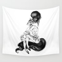 catwoman Wall Tapestries featuring catwoman by vasodelirium