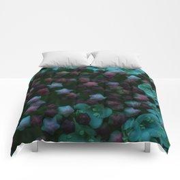 Floral Stars -Blue Comforters