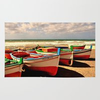 boats Area & Throw Rugs featuring boats by  Agostino Lo Coco
